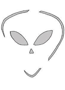 Schnitzvorlage Alien