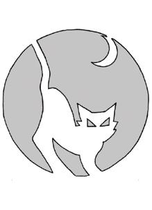 Schnitzvorlage Katze 1