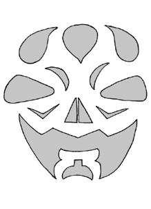 Schnitzvorlage Tribalface