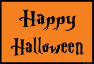 Happy Halloween Schild (orange)