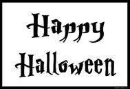 Happy Halloween Schild (weiß)