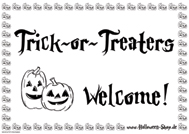 Trick or Treater Welcome ! (weiß)